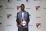 15 January 2015: Khiry Shelton (Oregon State) was selected second overall by New York City FC. The 2015 MLS SuperDraft was held at the Pennsylvania Convention Center in Philadelphia, Pennsylvania.