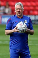 Scunthorpe United Caretaker Manager, Nick Daws during Charlton Athletic vs Scunthorpe United, Sky Bet EFL League 1 Football at The Valley on 14th April 2018