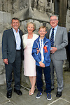 10/05/2015 – Saint Mary's Conformation - Conor Shortt with his grandparents Mary and Dermot Shortt and Jim Dennis. Picture: www.newsfile.ie