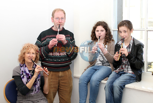 Mary Bergin, Des Campbell, Maebh O'Neill and Bláthnaid Ní Oistín at the Traditional Music Workshops in Barlow House...(Photo credit should read Jenny Matthews www.newsfile.ie)....This Picture has been sent you under the conditions enclosed by:.Newsfile Ltd..The Studio,.Millmount Abbey,.Drogheda,.Co Meath..Ireland..Tel: +353(0)41-9871240.Fax: +353(0)41-9871260.GSM: +353(0)86-2500958.email: pictures@newsfile.ie.www.newsfile.ie.