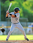 2 July 2011: Tri-City ValleyCats infielder Bubby Williams in action against the Vermont Lake Monsters at Centennial Field in Burlington, Vermont. The Lake Monsters rallied from a 4-2 deficit to defeat the ValletCats 7-4 in NY Penn League action. Mandatory Credit: Ed Wolfstein Photo