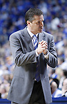 John Calipari speaks to the bench in the first half of the game against the University of Tennessee at Rupp Arena on Tuesday, February 8, 2011.  Photo by Latara Appleby | Staff