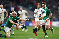 Danny Care of England takes on the Ireland defence. Natwest 6 Nations match between England and Ireland on March 17, 2018 at Twickenham Stadium in London, England. Photo by: Patrick Khachfe / Onside Images