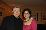 Dallas Art Hindle poses with Sopranos, One Life To Live & Guiding Light Saundra Santiago at Chiller Theatre's Spring Spooktacular on the weekend of April 27-29 at the Hilton Parsippany in Parsippany, New Jersey. (Photo by Sue Coflin/Max Photos)