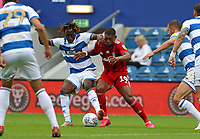 Osman Kakay of Queens Park Rangers battles with Ivan Cavaleiro of Fulham during Queens Park Rangers vs Fulham, Sky Bet EFL Championship Football at the Kiyan Prince Foundation Stadium on 30th June 2020