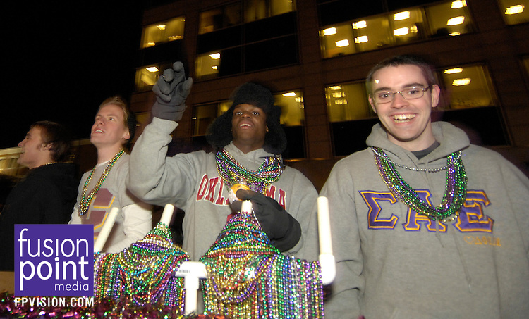 GMAC Bowl.Mardi Gras Parade and Pep Rally.Jan. 5, 2010