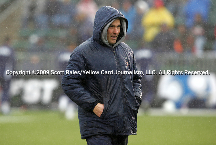 13 December 2009: Virginia head coach George Gelnovatch. The University of Akron Zips played the University of Virginia Cavaliers at WakeMed Soccer Stadium in Cary, North Carolina in the NCAA Division I Men's College Cup Championship game.