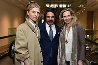 "NEW YORK CITY - APRIL 20: Clemence Poesy, Kenneth Biller, Producer/Director/Writer and Amanda Foreman attend the Sotheby's lunch and private preview of works by Picasso in conjunction with the National Geographic show ""Genius: Picasso"" at Sotheby's on April 20, 2018 in New York City. (Photo by Anthony Behar/National Geographic/PictureGroup)"