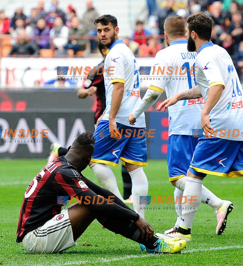 Delusione Mario Balotelli Milan<br /> Milano 01-05-2016 Stadio Giuseppe Meazza - Football Calcio Serie A Milan - Frosinone. Foto Giuseppe Celeste / Insidefoto