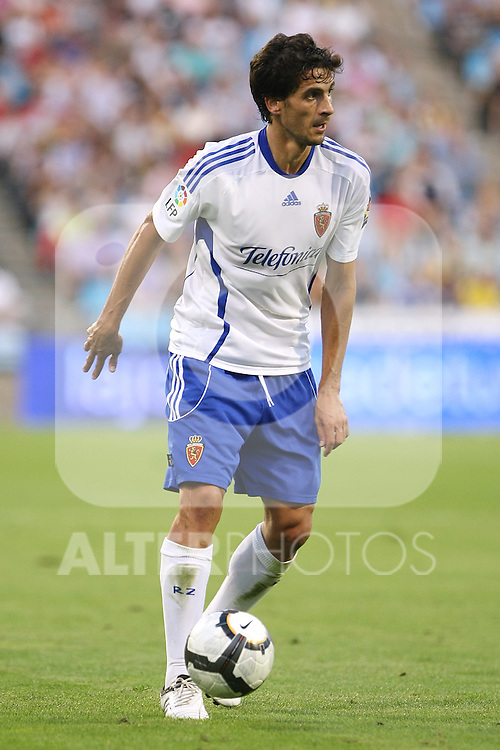 Zaragoza's Jorge Lopez during La Liga match. September 27 2009. (ALTERPHOTOS/Acero).