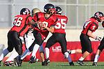 Palos Verdes, CA 11/10/10 - Andrew Katnik (Palos Verdes # 2) in action during the junior varsity football game between Peninsula and Palos Verdes at Palos Verdes High School.