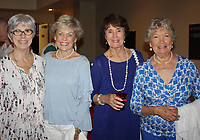 NWA Democrat-Gazette/CARIN SCHOPPMEYER Lynn Donald Carver (from left), Joyce Jones, Charlotte Steele and Bette Williams visit at the Arts Center of the Ozarks.