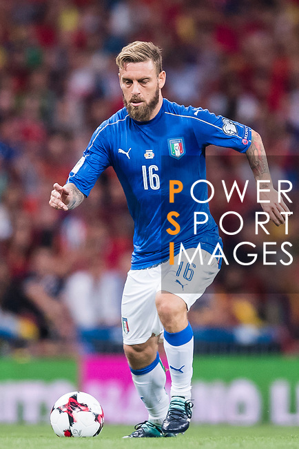 Daniele De Rossi of Italy in action during their 2018 FIFA World Cup Russia Final Qualification Round 1 Group G match between Spain and Italy on 02 September 2017, at Santiago Bernabeu Stadium, in Madrid, Spain. Photo by Diego Gonzalez / Power Sport Images