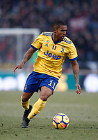 Calcio, Serie A: Bologna vs Juventus, stadio Renato D'Allara, Bologna,17 dicembre 2017.<br /> Juventus' Douglas Costa in action during the Italian Serie A football match between Bologna and Juventus at Bologna's Renato D'Allara stadium, December 17, 2017.<br /> UPDATE IMAGES PRESS/Isabella Bonotto