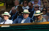 Labour deputy leader Tom Watson watching the Rafael Nadal versus Donald Young Second Round Tie<br /> <br /> Photographer Ashley Western/CameraSport<br /> <br /> Wimbledon Lawn Tennis Championships - Day 3 - Wednesday 5th July 2017 -  All England Lawn Tennis and Croquet Club - Wimbledon - London - England<br /> <br /> World Copyright &not;&copy; 2017 CameraSport. All rights reserved. 43 Linden Ave. Countesthorpe. Leicester. England. LE8 5PG - Tel: +44 (0) 116 277 4147 - admin@camerasport.com - www.camerasport.com