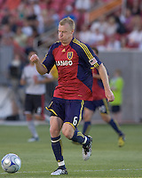 Real Salt Lake defender Nat Borchers (6).  Salt Lake Real defeated Toronto FC, 3-0, at Rio Tinto Stadium on June 27, 2009.