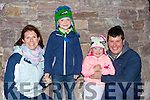 Angela, Ben and Hannah and Brendan O'Shea at the round tower unveiling in Glenbeigh on Saturday night