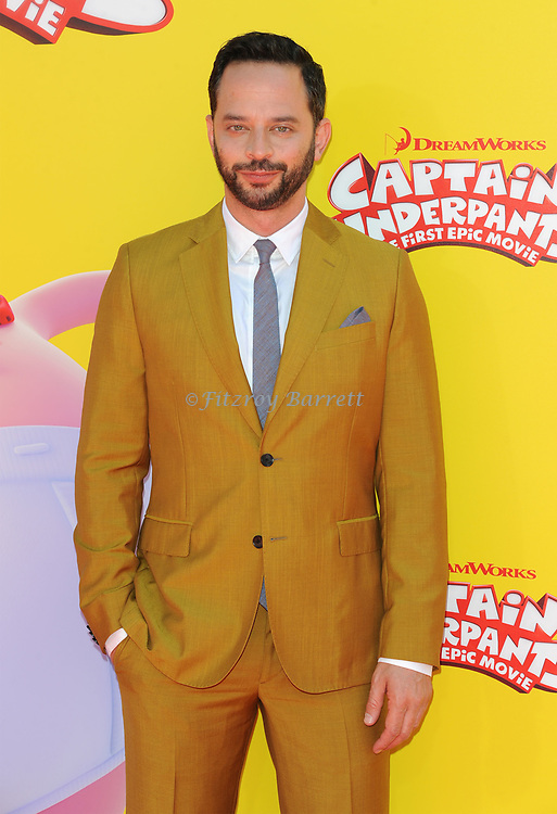 Nick Kroll arriving at the Los Angeles premiere of Captain Underpants, held at the Regency Village Theater in Westwood California on May 21, 2017