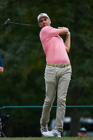Brendon Todd (USA) watches his tee shot on 11 during round 4 of the 2019 Houston Open, Golf Club of Houston, Houston, Texas, USA. 10/13/2019.<br /> Picture Ken Murray / Golffile.ie<br /> <br /> All photo usage must carry mandatory copyright credit (© Golffile | Ken Murray)