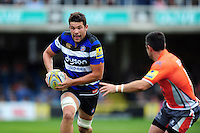 Charlie Ewels of Bath Rugby in possession. Aviva Premiership match, between Bath Rugby and Newcastle Falcons on September 10, 2016 at the Recreation Ground in Bath, England. Photo by: Patrick Khachfe / Onside Images