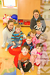PYJAMAS: Having fun at the Make a Wish Foundation Pyjama Day on Friday at Rathmore Childcare Centre were staff members Niamh McSweeney and Lynette O'Donoghue with toddlers Liam O'Keeffe, Stephen Dalton, Tara Jones, Mairead Fitzpatrick, Lainey Harty, Darragh Dennehy, Luke Kelliher.