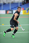 The Hague, Netherlands, June 03: Shea McAleese #25 of New Zealand warms up before the field hockey group match (Men - Group B) between South Africa and the Black Sticks of New Zealand on June 3, 2014 during the World Cup 2014 at GreenFields Stadium in The Hague, Netherlands. Final score 0:5 (0:3) (Photo by Dirk Markgraf / www.265-images.com) *** Local caption ***