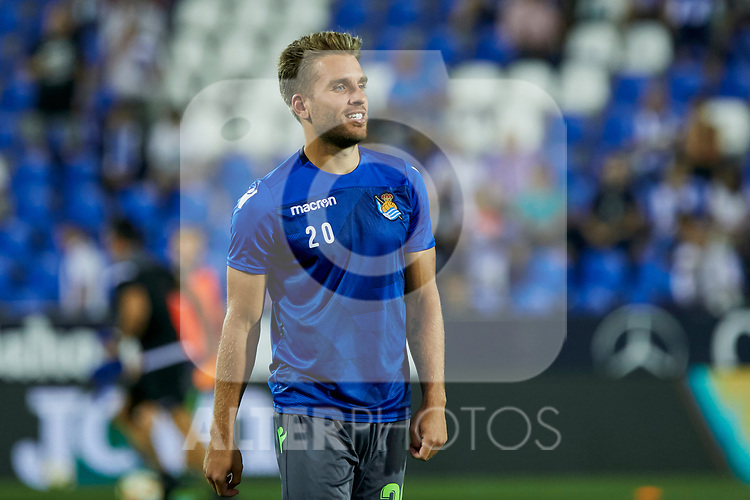 Real Sociedad's Kevin Rodrigues during La Liga match. August 24, 2018. (ALTERPHOTOS/A. Perez Meca)