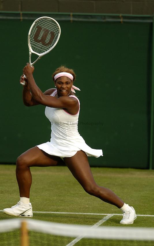 Photo. Jed Wee..Wimbledon Championships. 21/06/2005..Serena Williams.