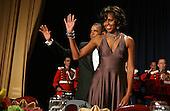 United States President Barack Obama and Michelle Obama arrive on stage at the annual White House Correspondent's Association Gala at the Washington Hilton Hotel, Washington, DC, Saturday, April 30, 2011..Credit: Martin Simon / Pool via CNP
