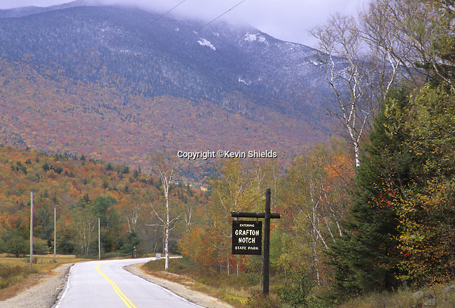 Route 26 entering Grafton Notch State Park, Maine, USA