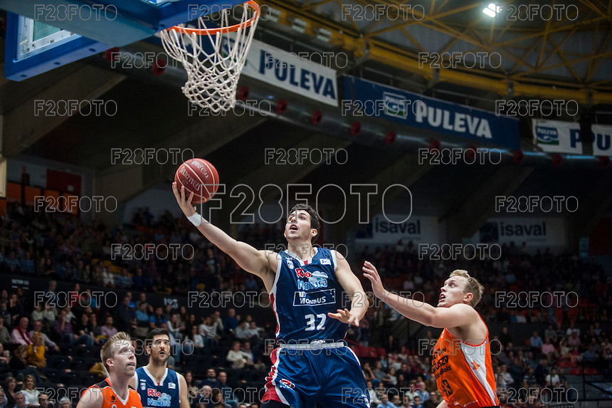VALENCIA, SPAIN - OCTOBER 31: Caloiaro during ENDESA LEAGUE match between Valencia Basket Club and Rio Natura Monbus Obradoiro at Fonteta Stadium on   October 31, 2015 in Valencia, Spain