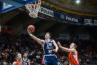 VALENCIA, SPAIN - OCTOBER 31: Caloiaro during ENDESA LEAGUE match between Valencia Basket Club and Rio Natura Monbus Obradoiro at Fonteta Stadium on   October 31, 2015 in Valencia, Spain