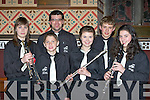 Playing tunes at the Gleneagle Concert band concert in St Mary's church, Killarney on Saturday night front row l-r: Lucy Vogelsang-O'Dwyer, Kevin Foley, Paul O'Brien, Laura O'Keeffe, Shane Gill and Margaret Cronin..