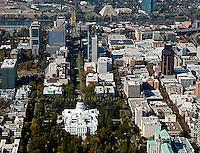aerial state capitol Sacramento, California