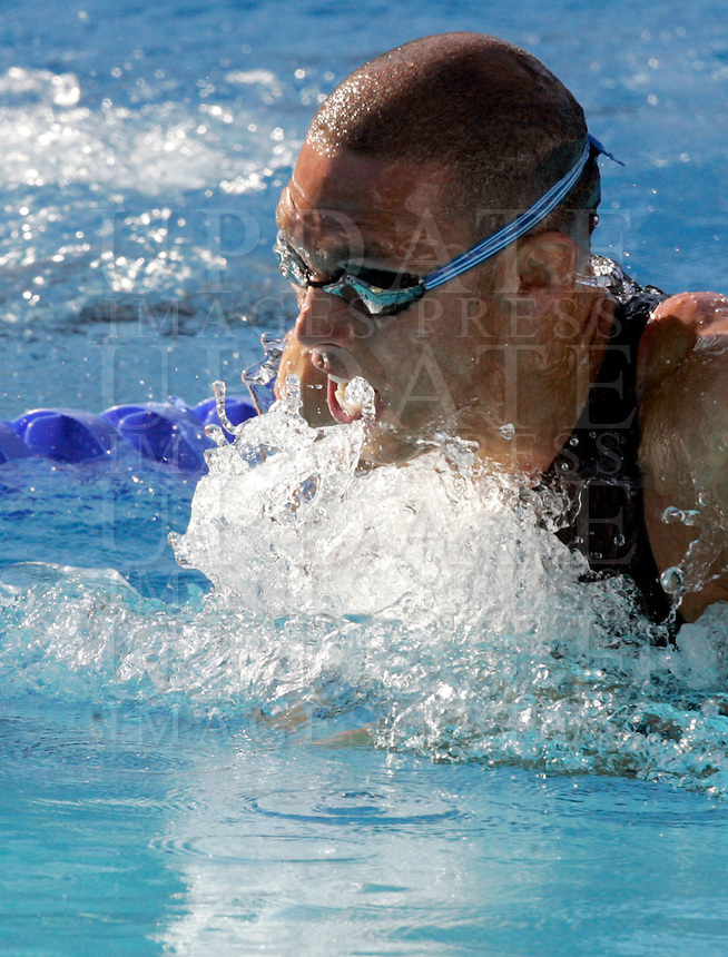 France's Hugues Duboscq swims to win the silver medal during the men's 100 meters breastroke event at the Swimming World Championships in Rome, 27 July 2009..UPDATE IMAGES PRESS/Riccardo De Luca