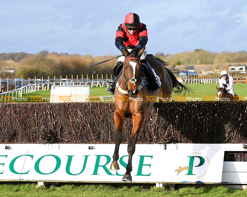 Winner of The SW Catering Chase  Colorado Doc ridden by Connor Brace and trained by  during Horse Racing at Plumpton Racecourse on 10th February 2020