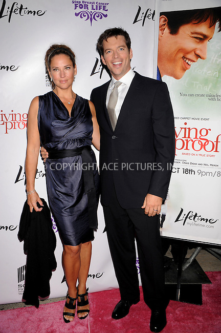 WWW.ACEPIXS.COM . . . . .....September 24, 2008. New York City.....Actor Harry Connick, Jr (right) and wife Jill Goodacre attends the 'Living Proof' Premiere held at the Paris Theater on September 24, 2008 in New York City.  ..  ....Please byline: Kristin Callahan - ACEPIXS.COM..... *** ***..Ace Pictures, Inc:  ..Philip Vaughan (646) 769 0430..e-mail: info@acepixs.com..web: http://www.acepixs.com