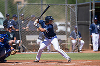 San Diego Padres catcher Jonny Homza (7) at bat during an Instructional League game against the Texas Rangers on September 20, 2017 at Peoria Sports Complex in Peoria, Arizona. (Zachary Lucy/Four Seam Images)