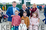 Padraig Barry, Caoimhe Barry and Emma Barry with Larry Buckley, Joe Barry, Sinead Barry and Kate Barry, all from Listowel, enjoying the atmosphere at Listowel Races on Sunday last.