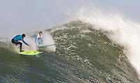 Nathan Fletcher, Shane Desmond. Mavericks Surf Contest in Half Moon Bay, California on February 13th, 2010.