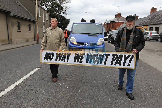 at the provest on Saturday against the House hold charge..Picture Fran Caffrey www.newsfile.ie..