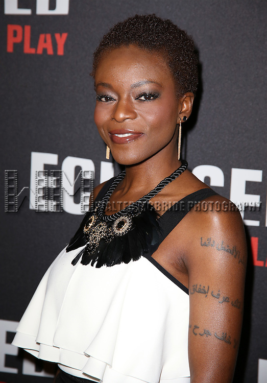 Joniece Abbott-Pratt attends the 'Eclipsed' broadway opening night after party at Gotham Hall on March 6, 2016 in New York City.
