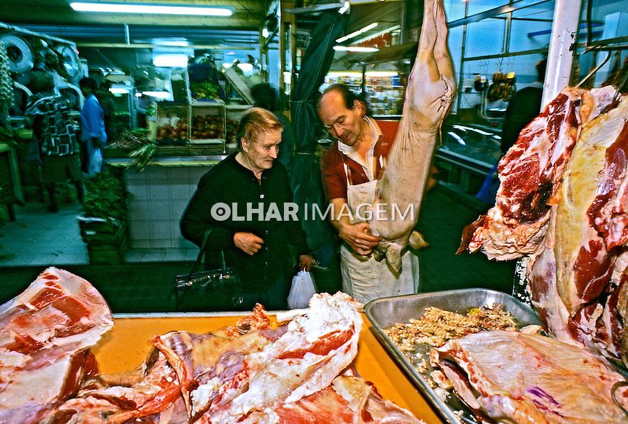 Carne de exportação. Mendoza. Argentina. 1997. Foto de Ricardo Azoury.