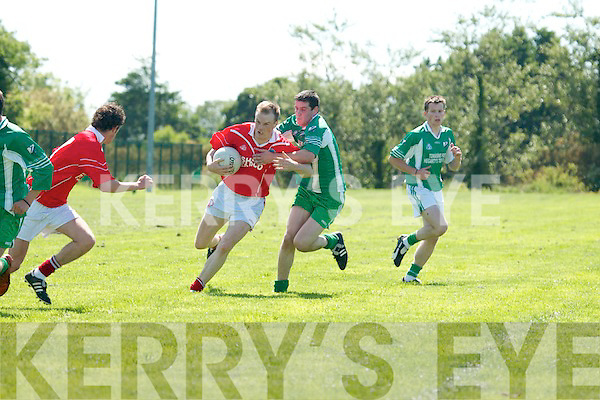 St Pats v Ballydonoghue in their County League Division Four meeting in North Kerry on Sunday.