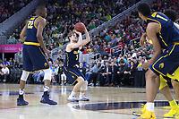 LAS VEGAS, NV - March 10, 2017: Cal Bears Men's Basketball team vs. the Oregon Ducks in the semifinals of the Pac-12 Men's Basketball Tournament.  Final Score; Cal Bears 65, Oregon Ducks 73