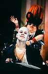 Graeae Theatre Company;<br /> UBU by Jarry;<br /> Adaptation by Trevor Lloyd;<br /> Jamie Bedard (as Ubu);<br /> Mandy Colleran;<br /> Premiere;<br /> at Oval House, London, UK;<br /> 8 December 1994;<br /> Credit: Patrick Baldwin
