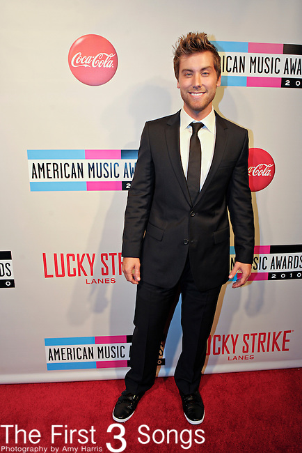 "Lance Bass attends the 2010 ""American Music Awards"" Pre-Party Charity Bowl Tournament hosted by Dick Clark Productions at Lucky Strike in Los Angeles, California.  Bass bowled on behalf of The Trevor Project."