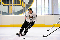 September 15, 2017: Boston Bruins right defenseman Charlie McAvoy (73) skates during the Boston Bruins training camp held at Warrior Ice Arena in Brighton, Massachusetts. Eric Canha/CSM
