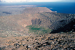 Sugar Loaf Volcano, Isla Santiago, Galapagos Islands, 395m high, extinct, James Island, Isla San Salvador, crater