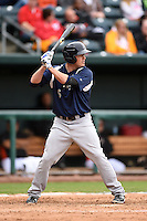 Pensacola Blue Wahoos first baseman Steve Selsky (6) pinch hits during a game against the Jacksonville Suns on April 20, 2014 at Bragan Field in Jacksonville, Florida.  Jacksonville defeated Pensacola 5-4.  (Mike Janes/Four Seam Images)